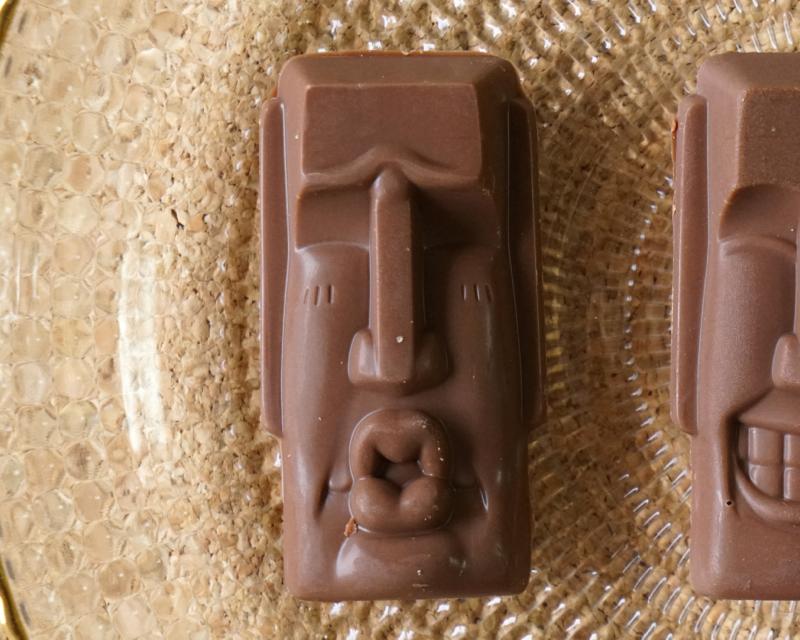 チョコレイ島のモアイ