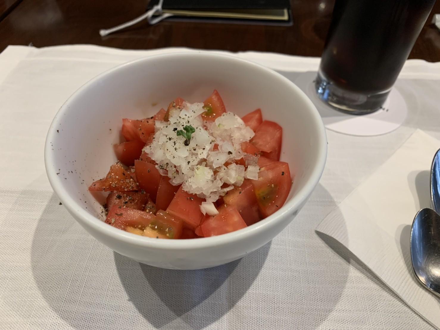 マルコリーニカレーに付いてきたサラダ