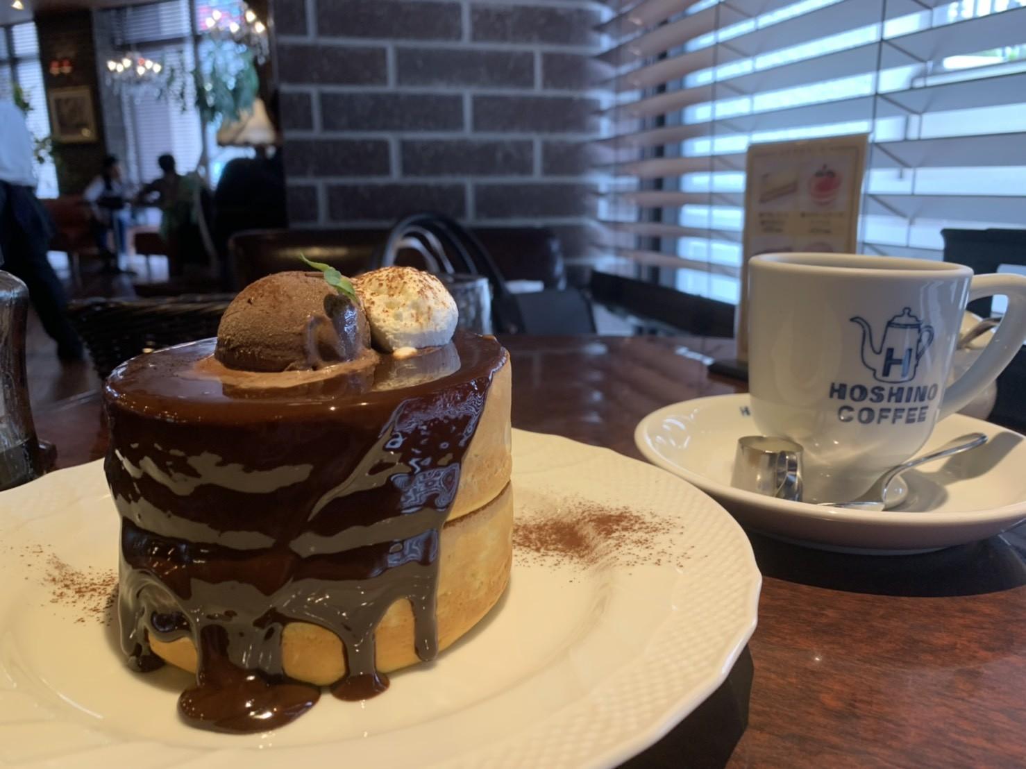 星乃パンケーキの生チョコレートスフレパンケーキ